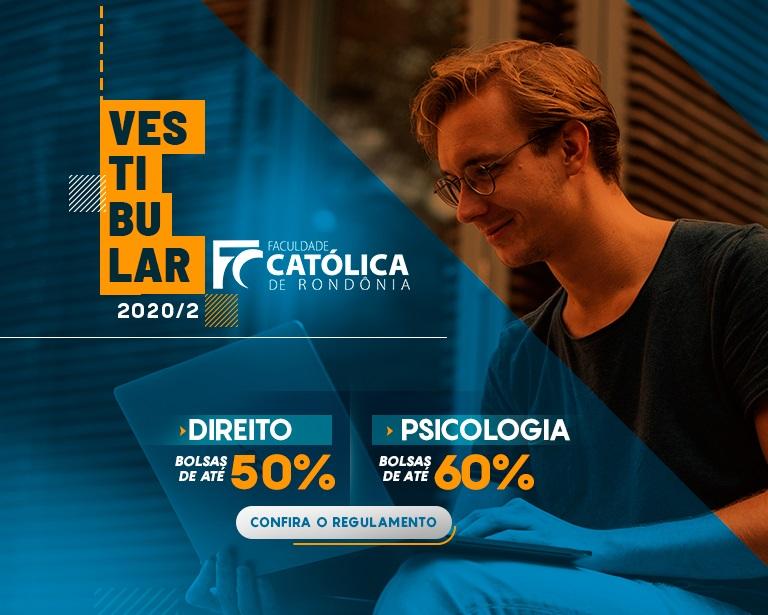 Direito e Psicologia: Faculdade Católica de Rondônia abre inscrições para o Vestibular 2020.2