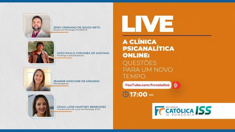 Live: A Clínica Psicanalítica Online: questões para um novo tempo
