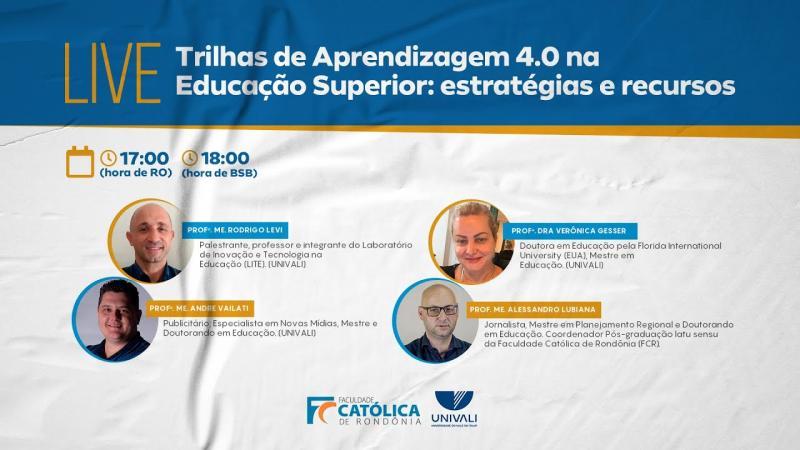 Live: Trilhas de Aprendizagem 4.0 na Educação Superior: estratégias e recursos